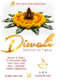 Diwali Festival Invitation A4 template
