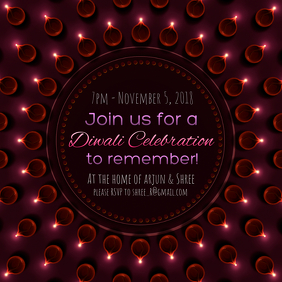 Diwali Festival of Lights Invitation