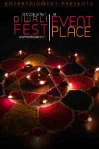 Diwali Festival Flyer Template Poster
