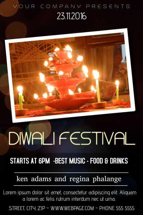 copy of diwali festival flyer template