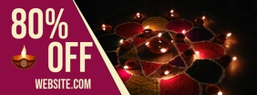 Diwali Festival Sale Couverture Facebook template