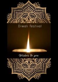 Diwali festival Y A2 template