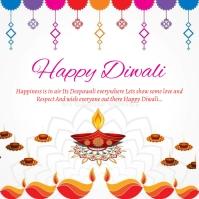 Diwali flyer 7 Square (1:1) template