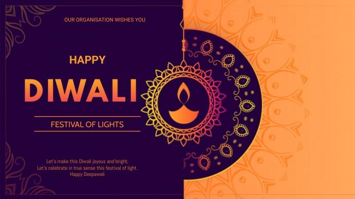 Diwali flyer Præsentation (16:9) template