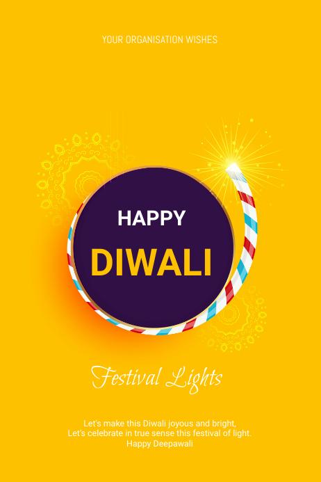 Diwali Flyer โปสเตอร์ template