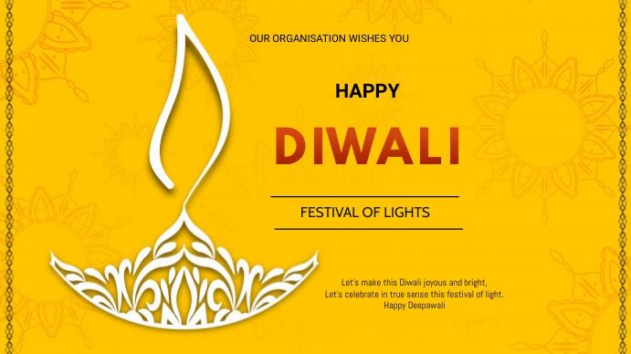 Diwali flyer Voorlegging (16:9) template