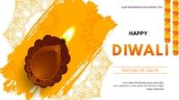 Diwali flyer Presentación (16:9) template