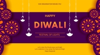 Diwali flyer Présentation (16:9) template