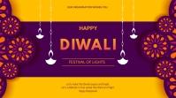 Diwali flyer Презентация (16 : 9) template