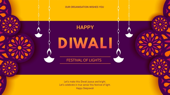 Diwali flyer Präsentation (16:9) template