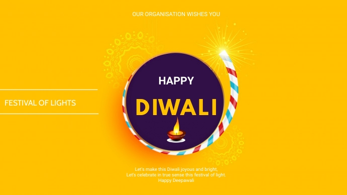 Diwali flyer Presentation (16:9) template