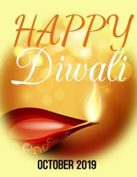 Diwali flyer template