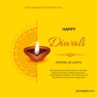 Diwali Flyer Instagram 帖子 template