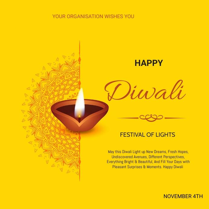 Diwali Flyer Message Instagram template