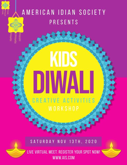 Diwali Flyer Greeting Template Pamflet (VSA Brief)