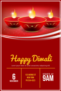 Diwali Flyer Template Cartaz