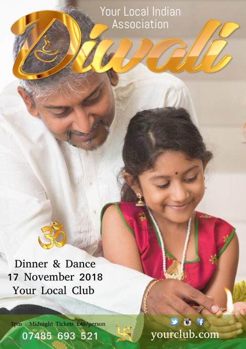 Diwali Flyer Template A4