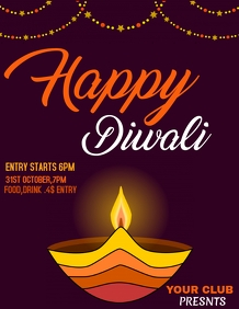 Diwali flyers,event flyers,party fly