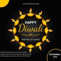 Diwali flyers Instagram-bericht template