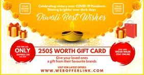 Diwali Gift Card Offer Template auf Facebook geteiltes Bild