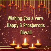 Diwali graphic video display สี่เหลี่ยมจัตุรัส (1:1) template
