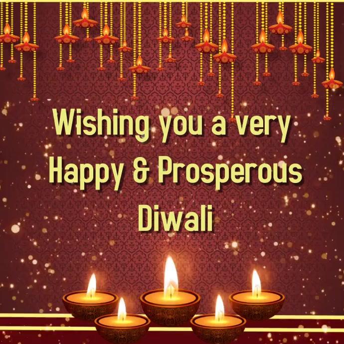 Diwali graphic video display Cuadrado (1:1) template
