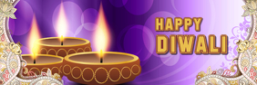 Diwali Greeting card facebook social media Banner 2' × 6' template