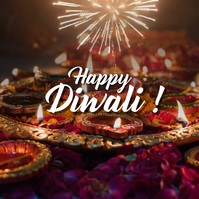 Diwali greeting Kvadrat (1:1) template