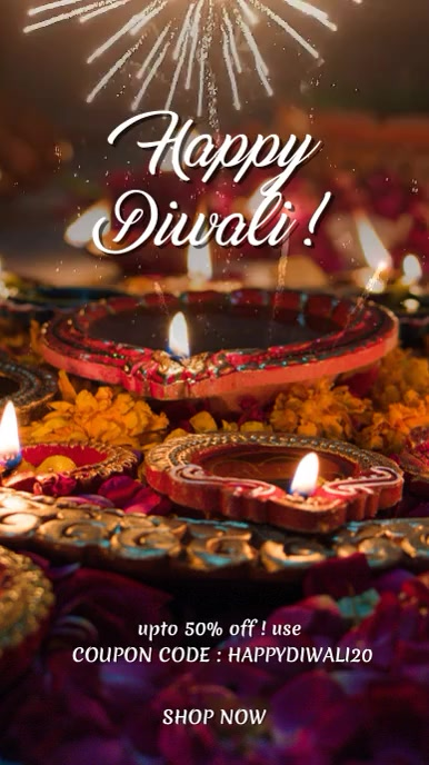 Diwali greeting INSTAGRAM STORY template