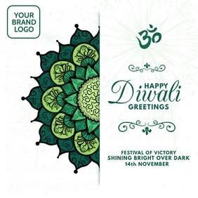Diwali Greetings 2020 Video Template Kvadrat (1:1)