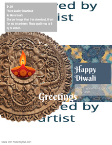 Diwali Greetings poster template