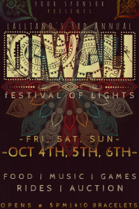 Diwali Indian Tribal Paisley Festival Mandala Rust Party Zen