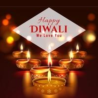 Diwali Light 6 Square (1:1) template