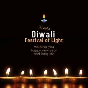Diwali light festival Instagram Post template
