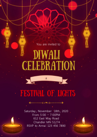 Diwali party invitation