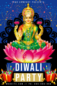 Diwali Party Poster