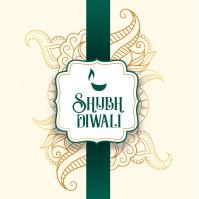 Diwali Post Сообщение Instagram template