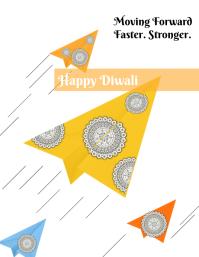 Diwali poster 传单(美国信函) template