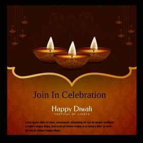 Diwali poster Instagram Plasing template