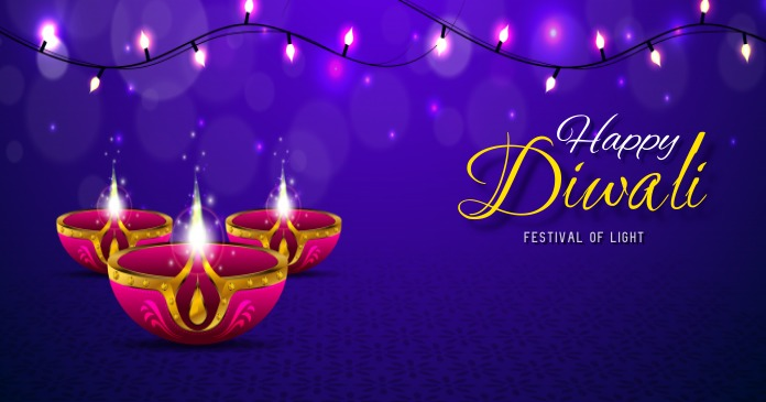 diwali poster Image partagée Facebook template