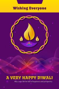 Diwali Poster Template Design