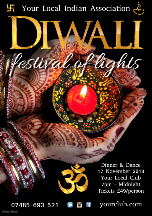 Diwali Poster template A4