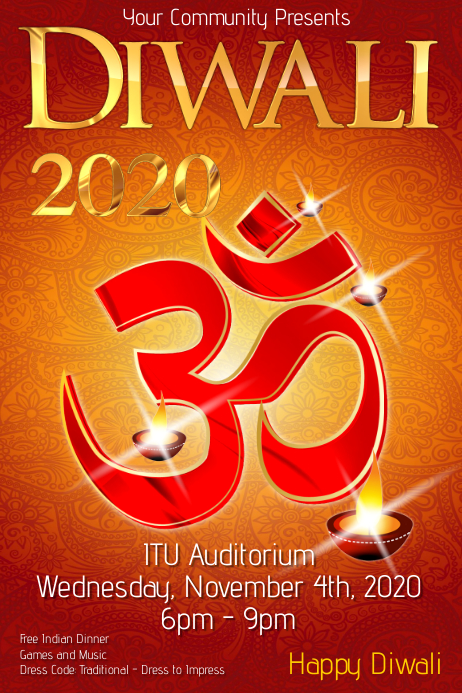 Diwali Poster template Plakkaat