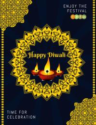 diwali premium poster Pamflet (VSA Brief) template