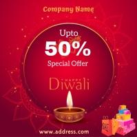 Diwali sale Pos Instagram template
