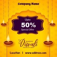 Diwali sale Instagram Post template