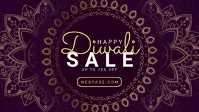 Diwali Sale video banner template