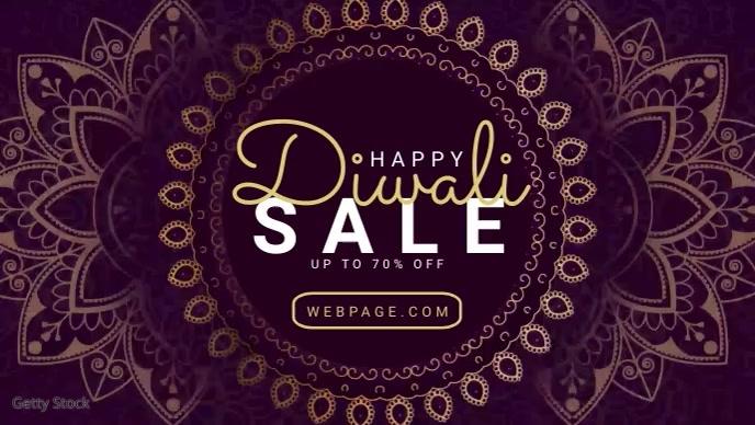 Diwali Sale video banner template
