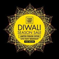 Diwali Season Sale Offer Template Carré (1:1)