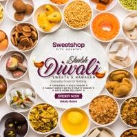 Diwali Sweets Order Post Template Instagram-bericht